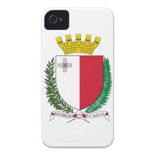 Escudo de armas de Malta iPhone 4 Carcasas