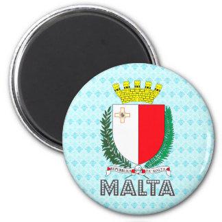 Escudo de armas de Malta Imán Redondo 5 Cm