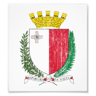 Escudo de armas de Malta Impresión Fotográfica