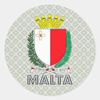 Escudo de armas de Malta Pegatina Redonda
