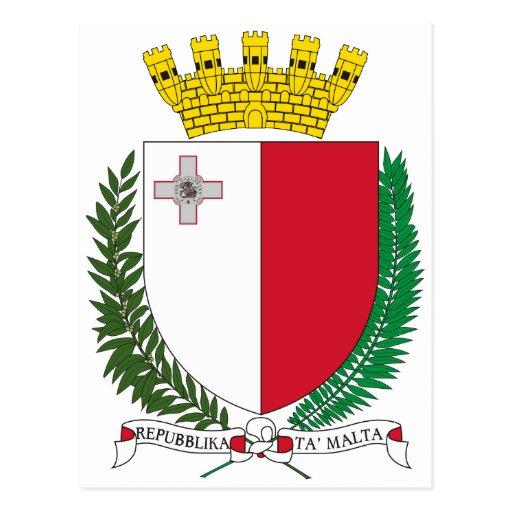 Escudo de armas de Malta Postales