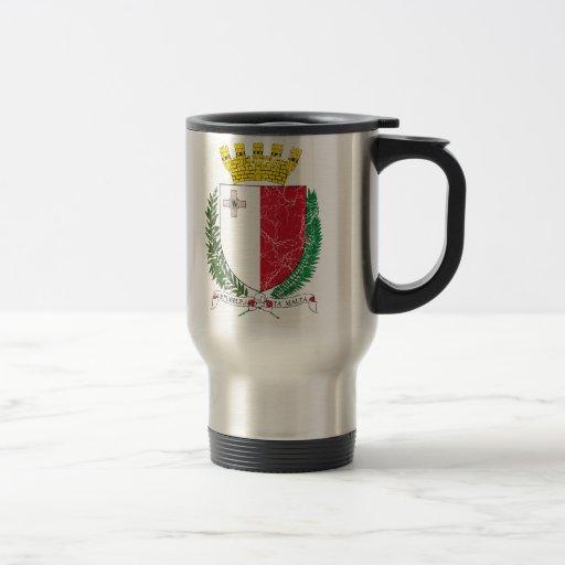 Escudo de armas de Malta Taza Térmica