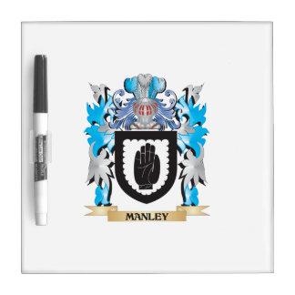 Escudo de armas de Manley - escudo de la familia Pizarras Blancas