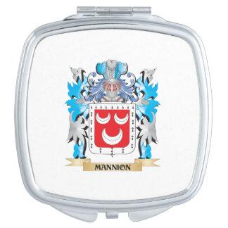 Escudo de armas de Mannion - escudo de la familia Espejos Maquillaje