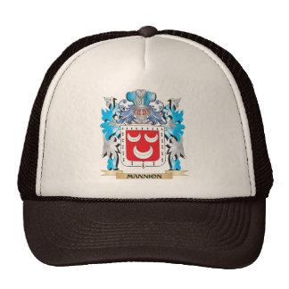 Escudo de armas de Mannion - escudo de la familia Gorras