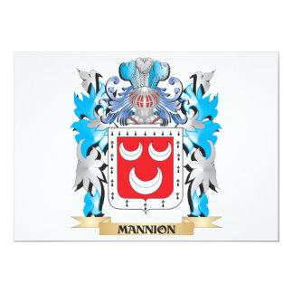 Escudo de armas de Mannion - escudo de la familia Invitación 12,7 X 17,8 Cm