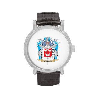 Escudo de armas de Mannion - escudo de la familia Relojes De Pulsera