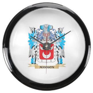 Escudo de armas de Mannion - escudo de la familia Relojes Aqua Clock