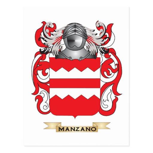 Escudo de armas de Manzano (escudo de la familia) Postales