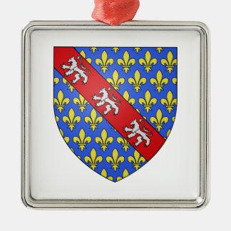 Escudo de armas de Marche (Francia) Adorno Navideño Cuadrado De Metal
