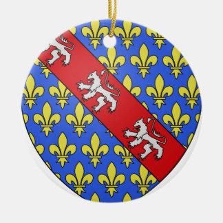Escudo de armas de Marche (Francia) Adorno Navideño Redondo De Cerámica