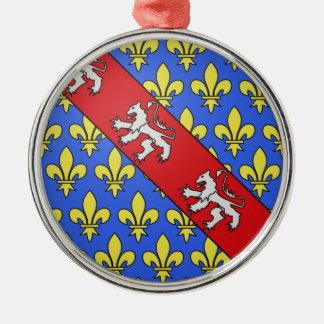 Escudo de armas de Marche (Francia) Adorno Navideño Redondo De Metal