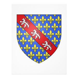 Escudo de armas de Marche (Francia) Membretes Personalizados