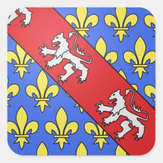 Escudo de armas de Marche (Francia) Pegatina Cuadrada