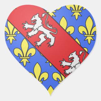 Escudo de armas de Marche (Francia) Pegatina En Forma De Corazón