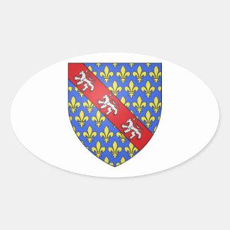 Escudo de armas de Marche (Francia) Pegatina Ovalada