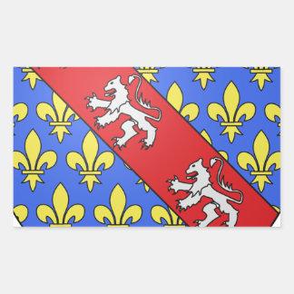 Escudo de armas de Marche (Francia) Pegatina Rectangular