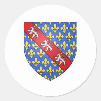 Escudo de armas de Marche (Francia) Pegatina Redonda
