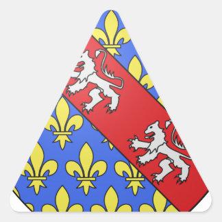 Escudo de armas de Marche (Francia) Pegatina Triangular