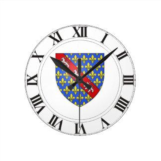 Escudo de armas de Marche (Francia) Reloj Redondo Mediano