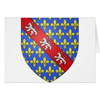 Escudo de armas de Marche (Francia) Tarjeta De Felicitación