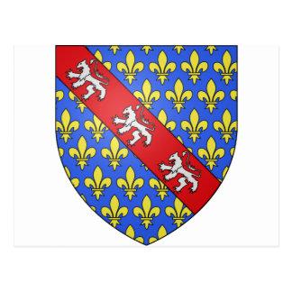 Escudo de armas de Marche (Francia) Tarjeta Postal