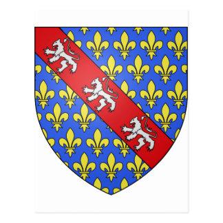 Escudo de armas de Marche (Francia) Tarjetas Postales