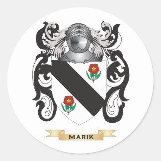 Escudo de armas de Marik (escudo de la familia) Pegatina Redonda