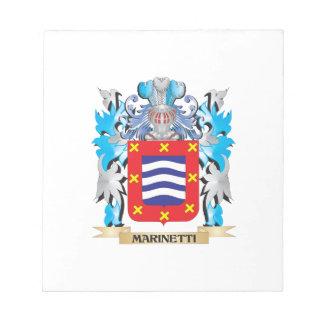 Escudo de armas de Marinetti - escudo de la Blocs De Notas