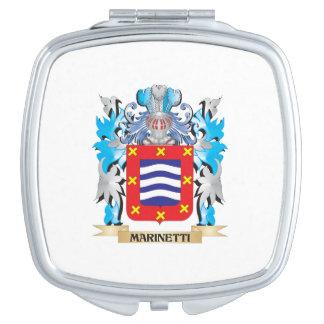Escudo de armas de Marinetti - escudo de la Espejos Compactos