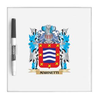 Escudo de armas de Marinetti - escudo de la Tablero Blanco