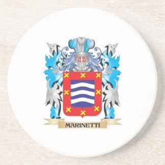 Escudo de armas de Marinetti - escudo de la Posavaso Para Bebida