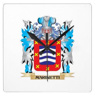 Escudo de armas de Marinetti - escudo de la Reloj De Pared