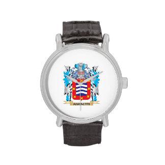 Escudo de armas de Marinetti - escudo de la Reloj De Mano
