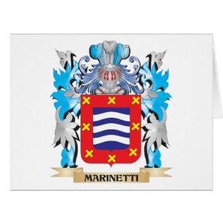 Escudo de armas de Marinetti - escudo de la Felicitación