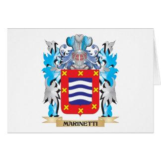 Escudo de armas de Marinetti - escudo de la Tarjetón