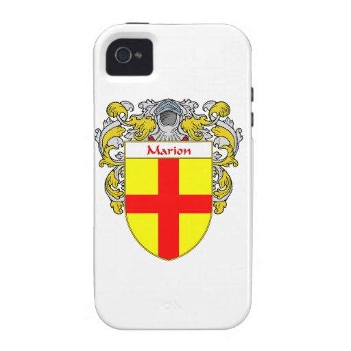 Escudo de armas de Marion/escudo de la familia iPhone 4/4S Fundas