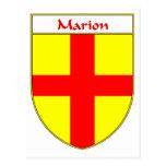 Escudo de armas de Marion/escudo de la familia Tarjeta Postal