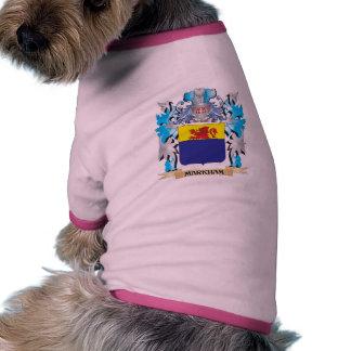 Escudo de armas de Markham - escudo de la familia Camiseta Con Mangas Para Perro