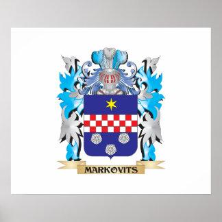 Escudo de armas de Markovits - escudo de la Póster