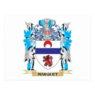 Escudo de armas de Marquet - escudo de la familia Tarjeta Postal