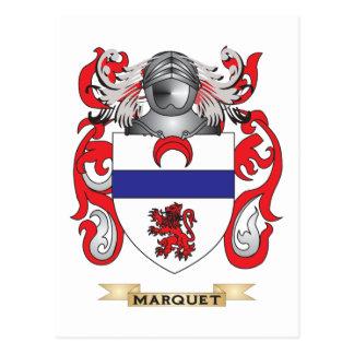 Escudo de armas de Marquet escudo de la familia Tarjeta Postal