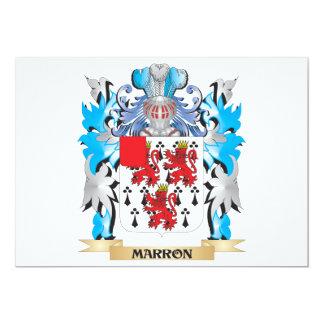 """Escudo de armas de Marron - escudo de la familia Invitación 5"""" X 7"""""""