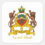 Escudo de armas de Marruecos Colcomanias Cuadradas