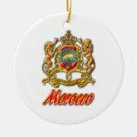 Escudo de armas de Marruecos Ornamento De Navidad