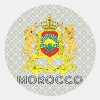 Escudo de armas de Marruecos Pegatina Redonda