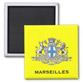 Escudo de armas de Marsella Imán Cuadrado