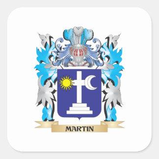 Escudo de armas de Martin - escudo de la familia Pegatina Cuadrada