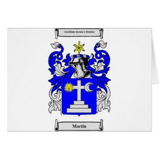 Escudo de armas de Martin (Irlanda) Tarjeta De Felicitación