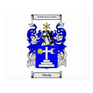 Escudo de armas de Martin (Irlanda) Tarjeta Postal